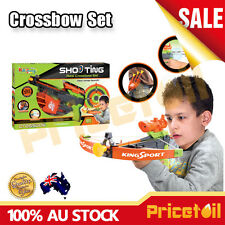 OZ Kids Shooting Real Crossbow Archery Set Bow & Arrow Real Action Activity Toy