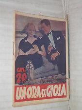 UN ORA DI GIOIA Il mio romanzo preferito 7 1937 attori in copertina romanzo di