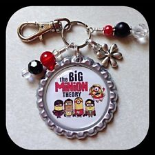 Big Bang MINION Theory Bottle Cap Name Necklace, Zipper Pull Pendant Jewelry Key