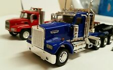 LOT OF 4 Kenworth W900 w/ opening hood Lowboy Trailer 1:50 diecast MACK Norscot