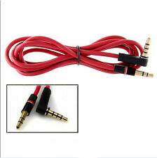 Replacement Audio Cable Cord Wire for Beats by Dr Dre Headphones - 3.5mm RED