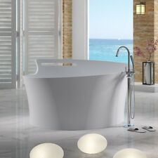 Free Standing Solid Surface Stone Modern Soaking Bathtub 67 x 65 inch - SW-115
