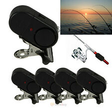 5Pcs Electronic Night Bite Fishing Alarm Alert Bell Clip on Rod with Light USA