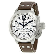 TW Steel CEO Chronograph White Dial Stainless Steel Mens Watch CE1008R