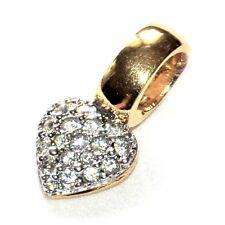 Bijou Pendentif signé Swarovski  authentique alliage doré cristal coeur pendant