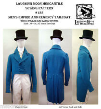 Men's Empire & Regency Tailcoat 3 Views Laughing Moon Costume Sewing Pattern 122