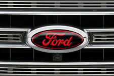 Ford Oval Logo Decal Set for F150 F-150 3pk Sticker Overlay 2015,2016,2017 RED