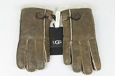 UGG AUSTRALIA BAILEY GLOVES SHEARLING SUEDE BOMBER JACKET BROWN SIZE M WOMENS