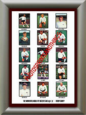 DERBY COUNTY - 1971-72 - REPRO STICKERS A3 POSTER PRINT