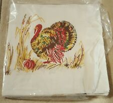 Vintage Reed's Rembrandt Line Large Paper Thanksgiving Turkey Napkins lot of 7