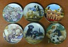 DOG COLLECTOR PLATES   SIX (6) ASSORTED DOG COLLECTOR PLATES