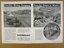 1958 Sanford-Day Gismo Cars New Jersey Zinc Jefferson City Mine photo vintage Ad