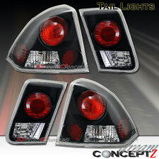 2001-2004 HONDA CIVIC 4DR SEDAN ONLY TAIL LIGHTS LAMPS BLACK HOUSING 4 PIECES