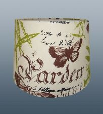 "'GARDEN THEME' 12"" EMPIRE DRUM SHADE FOR CEILING OR TABLE LAMP USE"