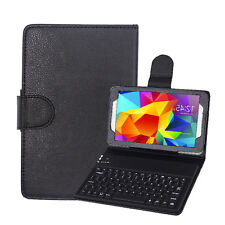 """Bluetooth Keyboard Silicone Stand Cover Case For Samsung Galaxy Tab 4 7"""" T230 bk"""