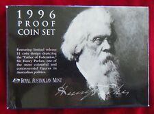 1996 Sir Henry Parkes - Six Coin Proof Set, Royal Australia Mint