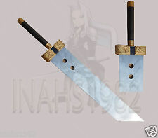 """New Cloud Buster Sword 52"""" With Wooden Stand & Sheath"""