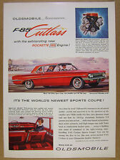 1961 Oldsmobile  F-85 Cutlass Sports Coupe red car illustration art vintage Ad
