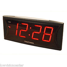 Super Loud 2 Inch Red LED Alarm Clock, Low Vision, Blind Users