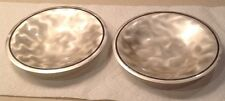 Very Nice Ikora Silver Plate TWO Bowls Footed Germany