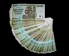 100 x Zimbabwe 500 Thousand(500000) Dollar banknotes-paper money currency