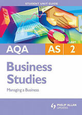 AQA AS Business Studies: Unit 2: Managing a Business