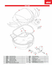 SL101 RICAMBIO CHIAVE SECURITY LOCK + BOCCOLA per GIVI BAULE V40 e V40 TECH
