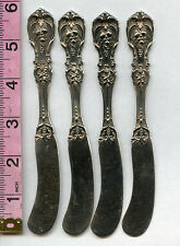 4 Francis The 1st Flat Butter Knife  Sterling Silver  5- 7/8 inch Reed + Barton
