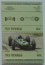 1963 Jim Clark LOTUS CLIMAX GP MK25 Car Stamps (Leaders of the World / Auto 100)