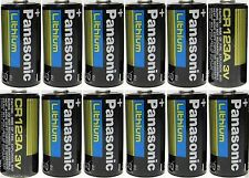12 Panasonic CR123A CR123 CR 123 Lithium 3V Batteries Brand New Fresh