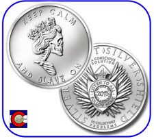 2013 SBSS Slave Queen 1 oz. Silver Round/Coin in airtite