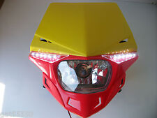 UFO ROAD LEGAL RED HEADLIGHT ENDURO STREETFIGHTER CRF250 XR CRF RMZ DRZ CRF450