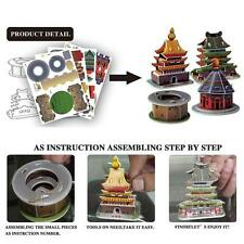 3D Model Puzzle Chinese Architecture Educational DIY Toy