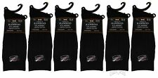Lot Of 6 Pair Men's Bamboo Classic Dress Socks Tuff Stuff Black Size 10-13 NEW