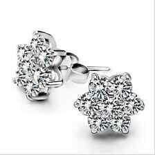 Women 925 Sterling Silver Earrings Austrian Crystal Stars Ear Stud jewelry