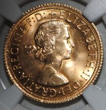 1963 Great Britain Gold Sovereign Elizabeth NGC MS63 Uncirculated BU Coin UK