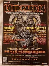 DREAM THEATER MANOWOR RAGE ++ JAPAN  2014 LOUDPARK FESTIVAL Flyer