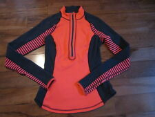 LULULEMON U TURN PULLOVER HALF ZIP IN FLARE AND INKWELL REVERSIBLE SIZE 4