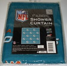 NIP NFL 72 X 72 INCH FABRIC SHOWER CURTAIN - MIAMI DOLPHINS