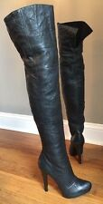 �� REPORT SIGNATURE�� FAIRFAX LEATHER KNEE HIGH BOOTS 7.5 Club Stripper Party