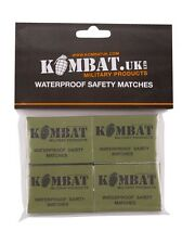 4 Pack Waterproof / Windproof Matches - Fire Starting / Survival / Bushcraft