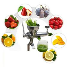 New Stainless Steel Wheatgrass Wheat grass Manual Hand operated Fruit Juicer