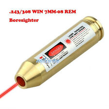 .243/308WIN 7MM-08REM Red Dot Laser Boresighter Bore Sight Cartridge For Rifle