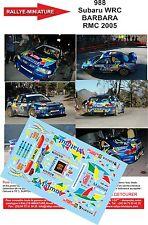 DÉCALS 1/24 réf 988 Subaru WRC BARBARA MONTE CARLO 2005