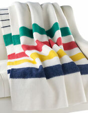 Authentic HBC Hudson's Bay Company Wool Point Blanket - Multi Stripe Twin Size