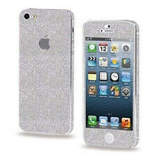 iPhone 5 5s Screen Protector + Glitter Bling Color Sticker FULL Body Covered