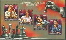 CENTRAL AFRICA  2014  CHESS MASTERS BILBAO PONS, ARONIAN ANAND SHEET MINT NH