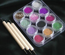 3D Nail Art Micro Mini Beads Sprinkles KIT Decoration-Marbles- NailTIP-Manicure