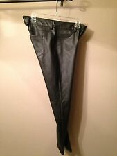 Women's Lauren Conrad Black Imitation Leather Pants Size 6