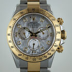 Rolex Daytona, 116523, Mens, 18K Yellow Gold and SS, Mother Of Pearl DIA Dial